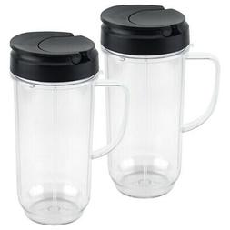 2 Pack 22 oz Tall Cup with To-Go Lid Replacement Part Magic