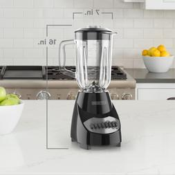 40 oz. 10-Speed Black Countertop Blender With 5-Cup Glass Ja
