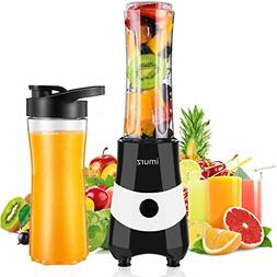 IMURZ Blender for Shakes and Smoothies, Mini 300 Watt Person