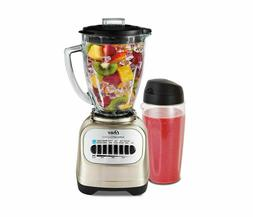 Oster Classic Series Blender with Travel Smoothie Cup, Chrom