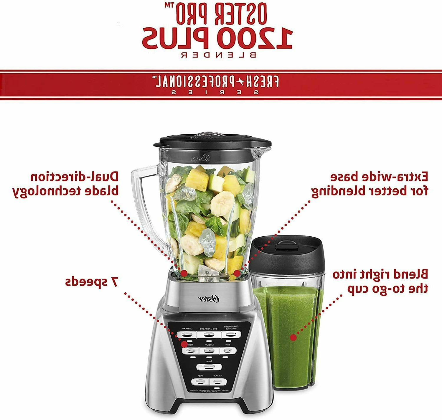 Oster Blender with Glass Jar, 24-Ounce Smoothie