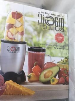 NIB The Original Magic Bullet Blender Silver, 11 Piece Set M