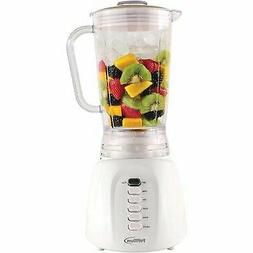 Premium - White 5-Speed + pulse button Blender 40 oz Stainle